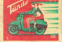 Poster, placard, matchbox