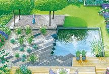 Garden Water elements likings Ludwig / Garden with Water elements. Ponds, streams, downfall,