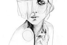 Art | Portraits. / Watercolour Portraits.