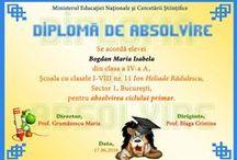 D personalizate I-IV / Diplome scolare personalizate pentru elevii claselor I-IV