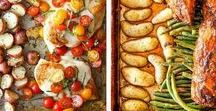 Meal Prep Ideas / Recipes and tips for meal prep including sheet pan recipes, meal packing containers, and easy recipes. Save time, money and eat well!