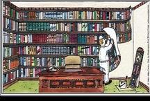 Un poco de humor  / Viñetas humorísticas sobre el mundo del libro, la lectura y las bibliotecas