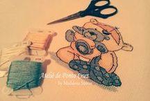 Ateliê :: My Works / Cross stitch :: Crochet :: Sewing