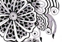 Tangle - Flowers / Zentange Inspiration - Flowers