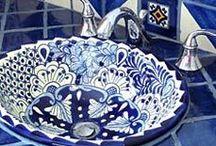 Talavera Tile Bathroom Ideas / Authentic Talavera Pottery: http://www.lafuente.com/Mexican-Decor/Talavera-Pottery/