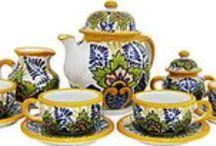 Talavera Tea Sets / http://www.lafuente.com/Mexican-Decor/Talavera-Pottery/Talavera-Tea-Sets/