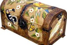 Carved Benches, Chairs & Trunks / Carved Benches, Chairs & Trunks available from La Fuente Imports ~  http://www.lafuente.com/Mexican-Furniture/Carved-Furniture/