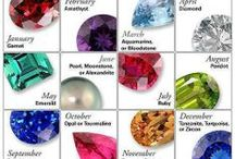 Birthstones / Every month has its own unique birthstone/s....we love them all!