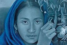 Original Oil Paintings from Mexico / Artists from the studio of David Villasenor (1967-2007) keep his artistic ambition alive with these stunning depictions of Mexican culture. Each original, oil-on-canvas painting represents a moment of time captured through the photographic eyes of the artist himself.   http://www.lafuente.com/Mexican-Art/Studio-David-Villasenor/