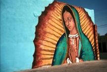 Virgen de Guadalupe / Our Lady of Guadalupe (Spanish: Nuestra Señora de Guadalupe), also known as the Virgin of Guadalupe (Spanish: Virgen de Guadalupe), is a title of the Virgin Mary associated with a celebrated pictorial image housed in the Basilica of Our Lady of Guadalupe in México City.  Visit http://LaFuente.com for a large selection of Religious Folk Art