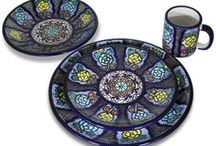 Talavera Place Settings by Tomas Huerta /  All La Fuente Talavera is 100% lead free as well as microwave, oven, and dishwasher safe. Plus it's beautiful and lasts a lifetime! http://www.lafuente.com/Mexican-Decor/Talavera-Plates/Talavera-Dinnerware/