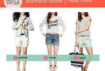 """How to Wear"" -  Boyfrend Shorts"