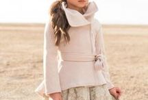 Romantic outfits for girls / Lace, bows, ruffles, all in white, grey, mauve and pink