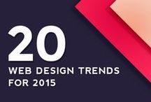 Web Design Trends 2015 / Keeping up-to-date with the latest trends in web design.