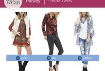 How to Wear  - Paisley / Give your look a boho twist in one easy step:  just add paisley!  See how we're styling paisley pieces!!