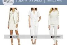 How to Wear - Head-To-Toe White / Try head-to-toe white for a fresh update on looks for every occasion!