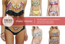 "May ""Trend Report"" Flounce-Top Bikinis"