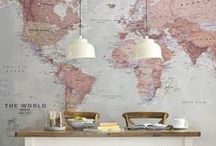 """It's all about maps / """"The world is a book and those who do not travel read only one page."""" ― Saint Augustine of Hippo"""