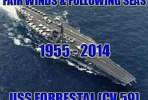 USS Forrestal / Ship I was stationed on March 1987-July 1990. V-1. / by Charles Hohman