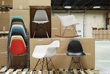 Eames Plastic Chairs / DSW, DAR, DSR, DAW chairs from Vitra and Eames