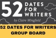'52 Dates for Writers' group board