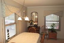 Before and After / Photos of before and after of a room makeover contest winner. She is thrilled, can you see why?