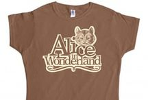 Inspired by Classic Reads / Inspired by some of the most famous literary works we created some new designs for our range of Alice in Wonderland t-shirts and Wizard of Oz t shirts
