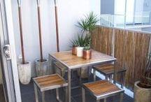 Urban Balcony (Life on the Edge!) / create a comfortable urban balcony with key items & ideal arrangements.