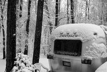 Snow Covered RV's