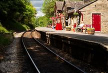 My small old train station / steam trains ,  locomotive , etc / by Patrick Vincent