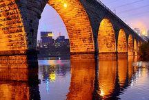 So many rivers to cross ( Bridges ) / Old Bridges  / by Patrick Vincent