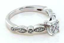 Vintage Engagement Rings / Moissanite Engagement Rings inspired by designs from the past and nostalgic in spirit. Vintage style designs are feminine, delicate and ornate in character.