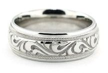 Men's Wedding Bands / Make a statement with the must stylish Men's Wedding Bands.