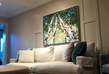 Artwork for over a Couch / These artworks are the perfect size to place over a couch or buffet table.