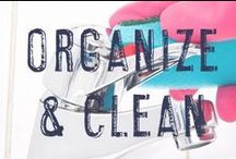 Organize & Clean / Our homes are in constant need of organization and cleaning - am I right? Here are ideas, tips, and hacks to help make organizing and cleaning a little less painful!