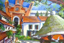 PAINTINGS OF MEXICO, PUERTO VALLARTA / Playful images of magical Puerto Vallarta Mexico on the Mexican Riviera by Kathleen Carrillo