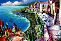 PAINTINGS OF FRANCE VILLAGES~ KATHLEEN CARRILLO / Paintings of my favorite places to visit in the South of France - by Kathleen Carrillo
