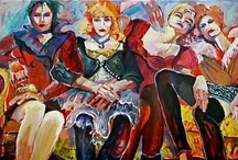 PAINTINGS OF WOMEN ~ KATHLEEN CARRILLO / A series of paintings by Kathleen Carrillo of magically empowered, inspiring divas - wild and wise!