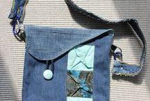 recycling, genbrug demin og gummi / genbrug af cowboy bukser, gummi mm.