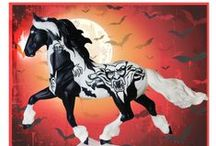 Halloween Horses / Some of the Breyer Halloween Horses and best equestrian theme costumes.  Halloween, costumes, dress up, horse costume, breye, model horses, equestrian, trick or treat, kids costumes, adult costumes