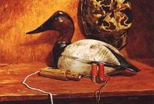 Decoy Paintings / I have long painted decoys as subject matter.  I have had my artwork appear in Wildlife In North Carolina calendars, American Artist magazine, and numerous national and international publications.