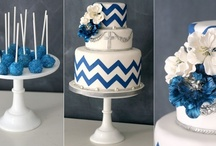 Chevron cakes