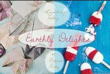 Earthly Delights / Earthly Delights is a monthly series with a special topic. Two ladies (Gudy of Eclectric Trends & Sandy of Confiture de Vivre) follow their passion and do what they love most - Gudy in styling and decorating, Sandy in cooking and baking