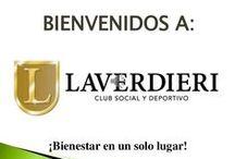 Laverdieri Club / La Empresa, Laverdieri Club ofrecemos DEPORTES (Tenis, Fútbol, Basket, Zumba y Baile) EVENTOS (Sociales y Empresariales) Salón de Belleza y Spa.