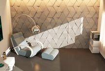 3D WALL TILE EUCLID / Concrete wall tilles
