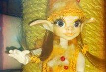 OOAK BJD Art Fairy Dolls by hexenessel / Hand skulptierte Sammler BJD Elfen,Ooak BJD Dolls,Fairies BJD, Elves BJD, Puppen und Trolle, Drachen und Fantasiefiguren