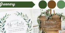 Greenery Themed Wedding / Wedding Inspiration with Greenery theme