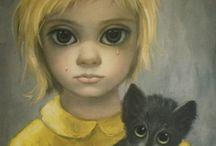 "Vintage ""big eyed"" art / by Noell ."