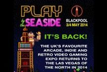 Play Blackpool Arcade / All the arcade machines shown in this board will be available to play in the free play arcade at Play Blackpool.  Play Blackpool is the UK's favourite Arcade, Indie and Retro Gaming show and takes place on 3-4 May 2014 at the Norbreck Castle Exhibition Centre in Blackpool.