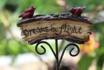 Fairy Signs / Find the perfect sign here at Fairy Gardening Australia. Directional signs, Fairy Garden, and Beware signs for every enchanted garden.